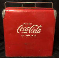 Vintage 1950's Coca-Cola Cooler Drink Coca-Cola in Bottles ACTON MFG Co