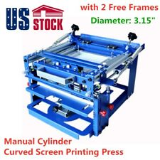 Us Stock Manual Cylinder Curved Silk Screen Printing Press For Mug Bottle