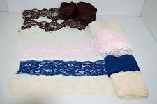 BEAU LOT DENTELLES ANCIENNES Mi XXe Beige Rose / blanche Bleue Chaire et Marron