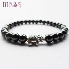 bracelet femme homme magnétique pierre Hématite éléphant perles santé naturel