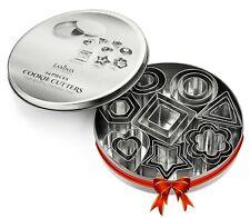 24 Piece Mini Cookie Cutter Set-Heart, Star, Flower, Geometric Shaped Assorted S