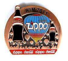 ZIPPO BALLON Pin / Pins - WIM 2011 mit COCA COLA / bronze [3722]