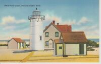 Race Point Lighthouse, Provincetown, Mass.- Vintage Postcard -