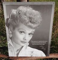 I LOVE LUCY Secret Staying Young Sign Tin Vintage Garage Bar Decor Old Rustic