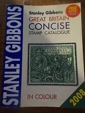 Stanley Gibbons Gran Bretaña Conciso catálogo de sellos en color 2008 edición en muy buena condición