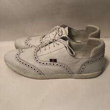 7c5d75efe Men Gucci Vintage Wingtip Oxford Sneakers Shoes White 256772 Leather 13.5 G  14.5