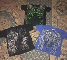 3 Piece Lot MMA Elite Boys Tshirt 4/5 Graphic Tee's Shirts Salvation Cross EUC