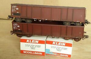 Klein Modellbahn 3402 2 X Ouvert Marchandises Eaos Vielli Faussée DB Époque 4