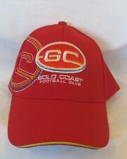 GOLD COAST SUNS AFL TEAM LOGO RED AND GOLD  ADJUSTABLE MENS MEDIA CAP HAT