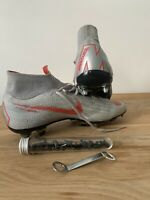 Nike Mercurial Superfly Pro SG Grey and Crimson Football Boots UK 9.5