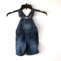Oshkosh Genuine Kids Blue Denim Overalls Shortalls Size 18M Baby Boy Baby Girl