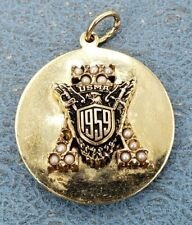 USMA 14k West Point Double Sided Pendant