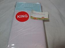 NEW Barbara Barry PERFECT PIN DOT - Petal King Pillowcase Pair ~ Peach/White NIP