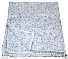 Quilt Indian Handmade Vintage Kantha Designer Bedspread Throw Cotton Neat Gudari