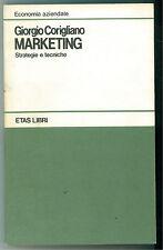 CORIGLIANO GIORGIO MARKETING ETAS 1987 ECONOMIA AZIENDALE