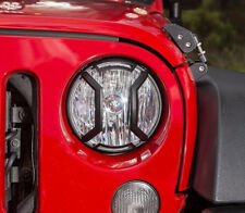 Black Textured Headlight Guards for Jeep Wrangler 2007-2018 Elite Rugged Ridge
