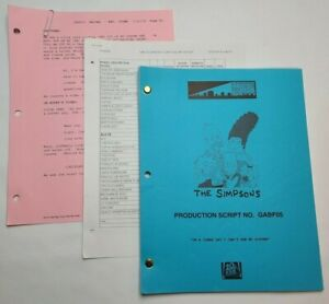 """THE SIMPSONS / 2004 TV Script, Gary Busey """"On a Clear Day I Can't See My Sister"""""""