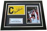 Dennis Mortimer Signed FRAMED Captains Armband A4 Display Aston Villa PROOF COA
