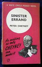 SINISTER ERRAND by Peter Cheyney (Collins Pb  c.1950)