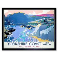 TRAVEL TOURISM SCARBOROUGH BEACH RESORT YORKSHIRE UK ART POSTER PRINT LV4240
