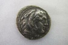 ANCIENT SILVER TETRADRACHM ALEXANDER THE GREAT 336-323 BC HERAKLES IN LION SKIN