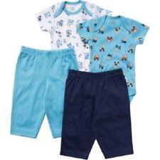 Infant Boys Bodysuits with Pants 4 Piece Puppy Print Layette Set Size 12 Months