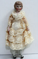 "6� Antique, German, Kestner, Bisque, Miniature ""Doll House� Doll"