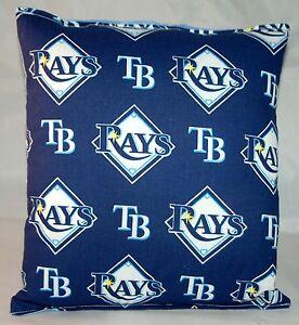 Rays Pillow Tampa Bay Rays Pillow MLB Handmade in USA Pillow Baseball