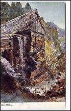 """Künstlerkarte um 1910/20 Josef Gerstmayer Wien """"Alte Mühle"""" alte Postkarte"""