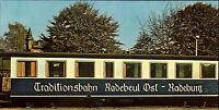 DDR Breitbild-AK Traditionsbahn Eisenbahn Wagon Radebeul - Radeburg Postkarte