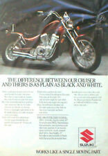 1986 Suzuki INTRUDER 700 Motorcycle AD/ ADVERTISEMENT,  Motor Cycle
