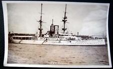 **WW1  1900's ROYAL NAVY BATTLE SHIP  H.M.S. RENOWN ~ Real Photo PC  RPPC