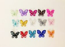 """12 x 2"""" Organza butterfly craft wedding party decorations Table Decoration"""