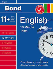 Bond 10 Minute English Tests For Age 10-11: by Sarah Lindsay