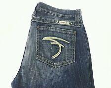 FRANKIE B Womens  Flare Bootcut Blue Denim Jeans Pants Sz 10 USA Made EUC
