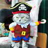❤️ Funny Pet Dog Cat Pirate Costume Suit Halloween Party Puppy Dressing Cosplay