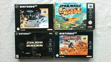 STAR WARS N64 NINTENDO GAME BUNDLE NABOO RACER ROGUE SQUADRON EMPIRE RARE BOXED