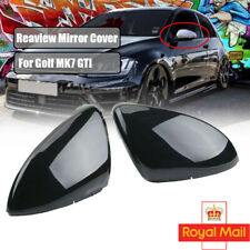 Pair L&R Mirror Cover Side Wing Rear View Mirror Case Covers For VW Golf MK7 UK
