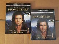 LIKE NEW!! - Braveheart: w/Mint Slipcover (4K Ultra HD & Blu-ray) No Code