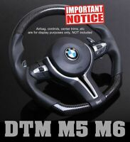 Genuine CARBON DTM Smooth Leather Steering Wheel for BMW F10 F12 F06 F07 M5 M6