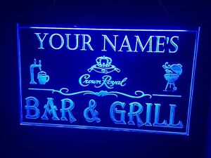 Bar And Grill Custom Led Neon Light Sign Personalized Name & Brand