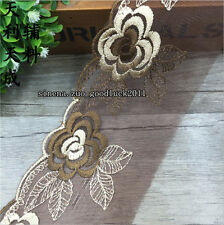 8cm,1yard Delicate embroidered flower tulle lace trim Sewing Handicraft DIY F150