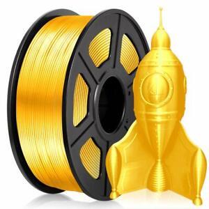 PLA Silk Gold Filament 1.75mm 3D Printer Filament 2.2 LBS Spool 3D Printing