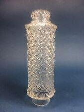 "CLEAR ART DECO VANITY BOUDOIR PILLAR TOWER GLASS LAMP SHADE 1.75"" Fitter Quilt"