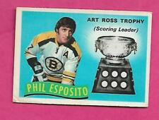 1971-72 OPC # 247 BRUINS PHIL ESPOSITO TROPHY GOOD CARD  (INV# C8924)