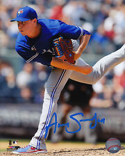 Toronto Blue Jays Aaron Sanchez Signed MLB Baseball 8x10 Photo Autograph Pitcher