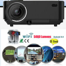 4K 3D Wifi DLP Mini Android Full HD 1080P Home Theater Projector HDMI USB LED