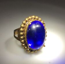 1960's Blue Stone Gold Tone DESIGNER Kim Craftsmen Ring