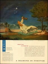 1956 vintage jewelry AD A Diamond is Forever De Beers great art by Saslow 033017