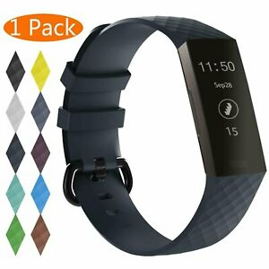 For Fitbit Charge 3 / 4 Watch Band Replacement Silicone Bracelet Wrist Strap
